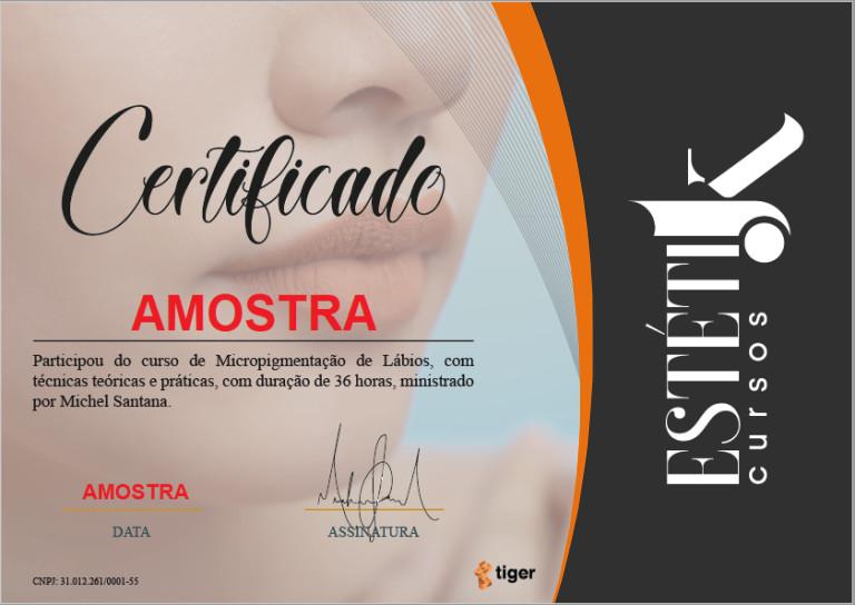 estetik cursos certificado