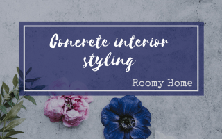 Roomy Home interiors blog concrete interior styling