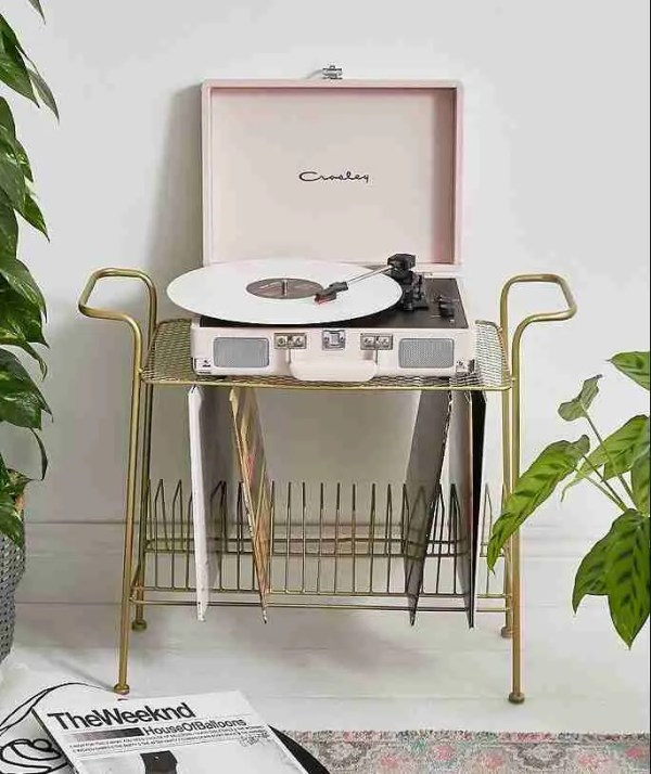 crosley pink vinyl record player urban outfitters