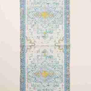 harmony bath runner blue anthropologie overdyed rug