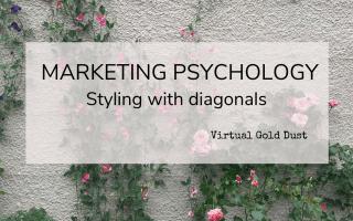marketing psychology example shapes diagonals logo