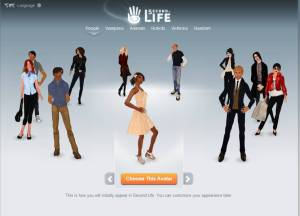 Join Second Life - select avatar