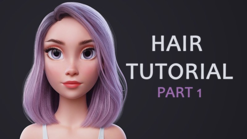 Blender Hair Tutorial Part 1 (styling the hair)