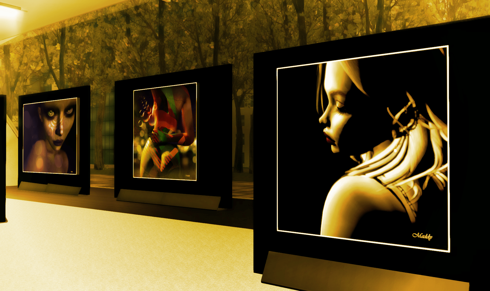 """Luci e Sculture"" by Maddy & Solkide @Koca Gallery in Second Life®"