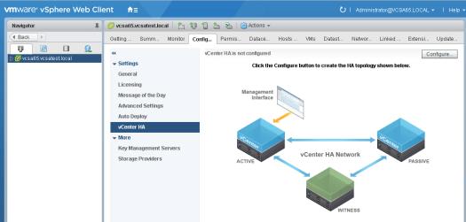 vcsa65_ha01如何配置VMware VCSA 6.5 HA