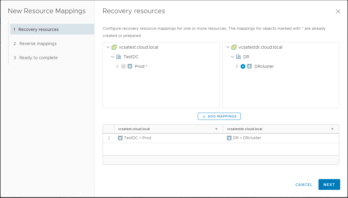 Create VMware vSphere Site Recovery Manager 8.1