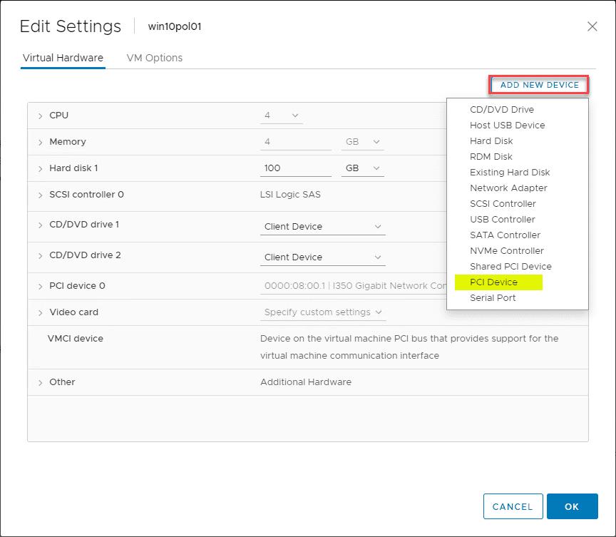 Enable VMware Virtual Machine 802.1X Authentication