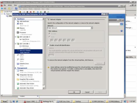 windows 2008 hyper-v manager vm network setting