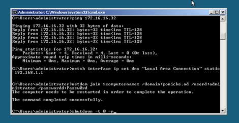 Microsoft Hyper-v server core restart