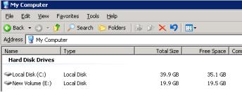 VMware ESX Virtual Server Disks in Windows After deleting the data