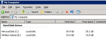 VMware ESX Virtual machine disk usages before filling it up as showing in windows