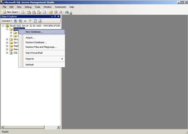 Create vCenter 5.1 DB in MS SQL