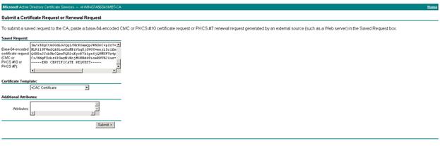 Request vCloud Automation Center Identity Appliance Certificate