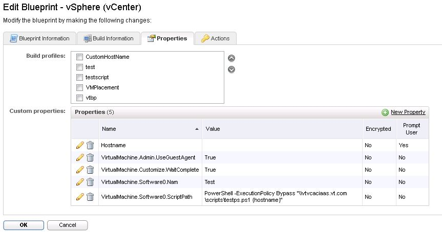Running power shell scripts using vCAC Gugent