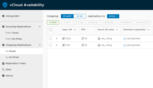 vCloud Availability 3.0 On-Prem to Cloud