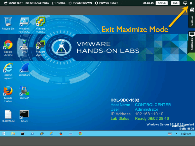Exit Maximize Mode