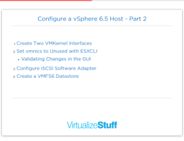 How to Configure a vSphere 6.5 Host – Part2