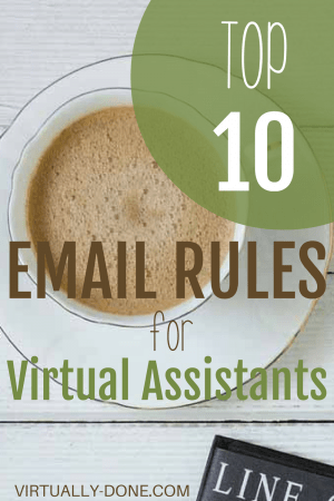 Email Rules for Virtual Assistants