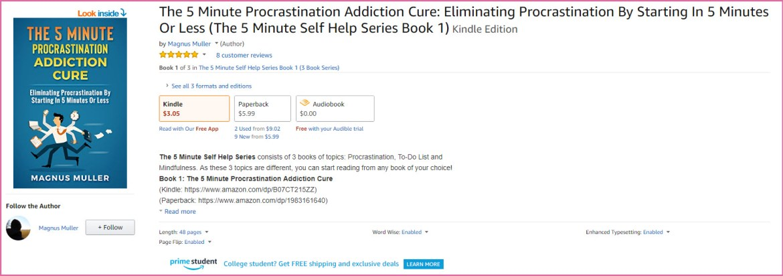 5 Minute Procrastination Addiction Cure
