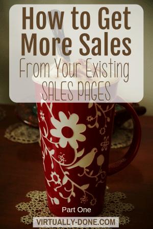 Sales Pages Part 1