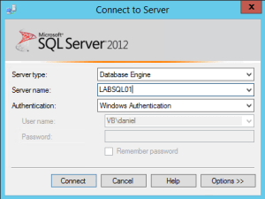 1 SQL Connect to Server