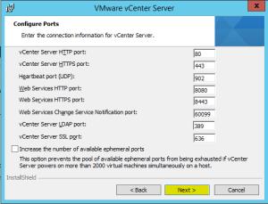 42 vCenterServer Configure Ports