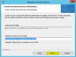 47 vCenterServer Inventory Service URL