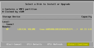 5 ESXi Disk Selection