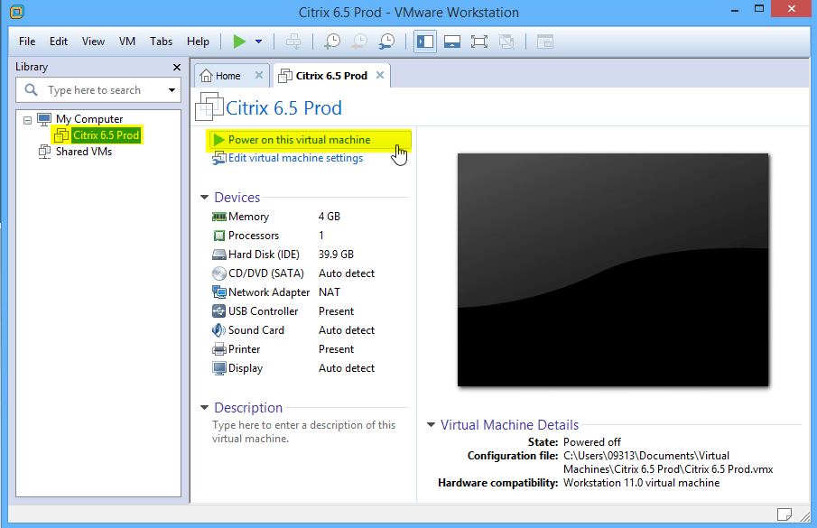 Citrix PVS - Use VMware Workstation to Upgrade VMTools