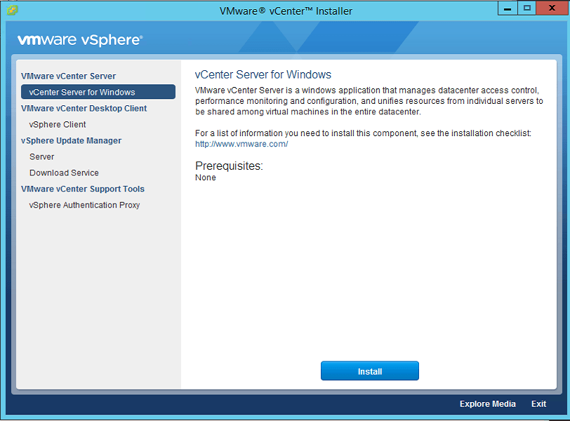 2 vCenter Install Splash Screen
