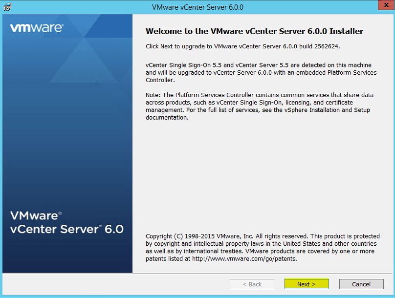 3 Welcome to vCenter 6 Installer
