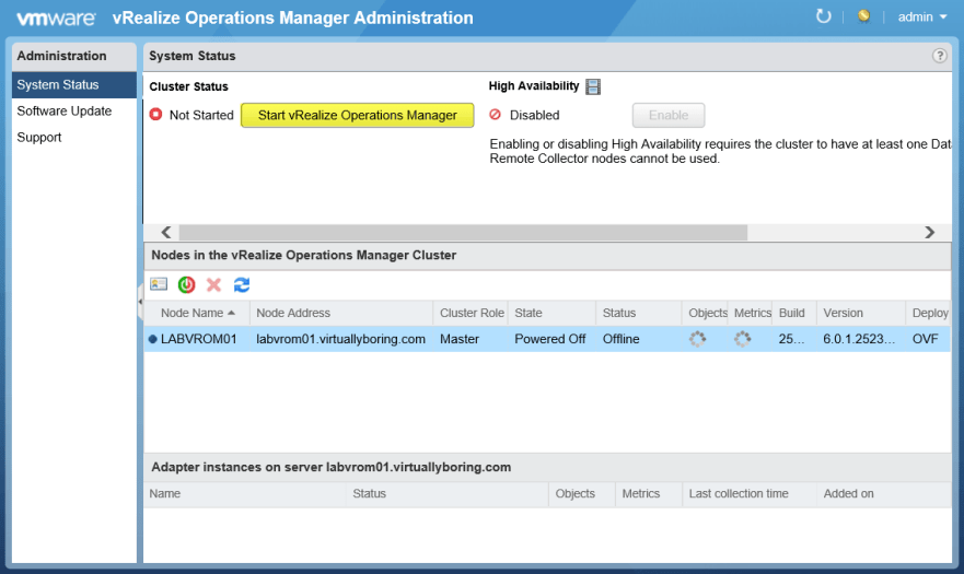 17 vROM - Start vRealize Operations Manager