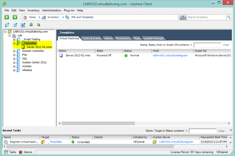 Add Virtual Machine Templates ( VMTX) to Inventory using