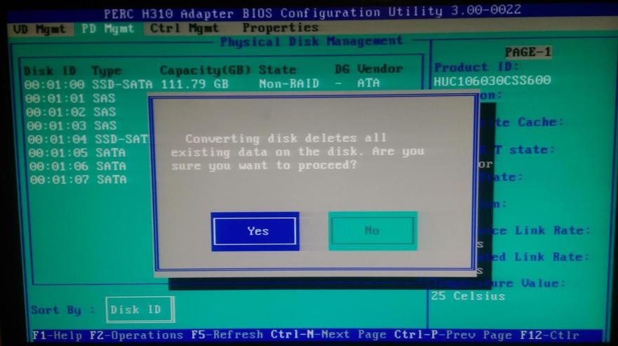 H310 - Make disk non-raid 3