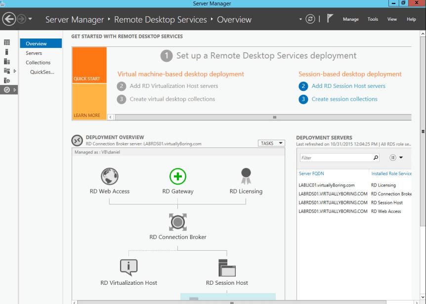 15 Remote Desktop Service - RDS Overview - License Server Installed