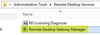RD Gateway 12 - Remote Desktop Gateway Manager