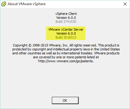 VCSA Upgrade 9 - vCenter Version