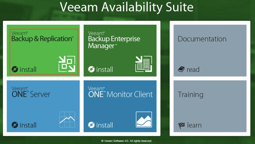 Veeam Backup 2 - Install