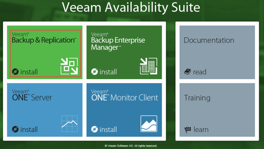 Veeam Backup 2 - Install