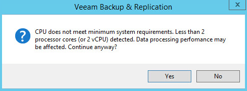 Veeam Backup 2.1 - CPU Check
