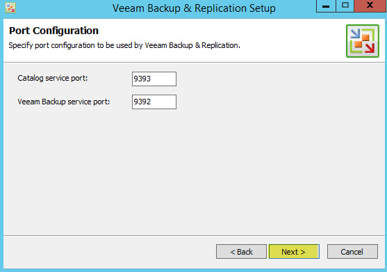 Veeam Backup 8.3 - Port Configuration