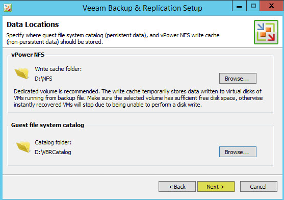 Veeam Backup 8.4 - Data Locations