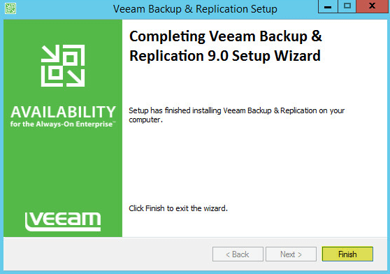 Veeam Backup 10 - Upgrade Finished