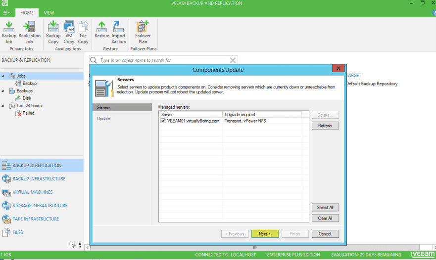 Veeam Backup 12 - Components Upgrade
