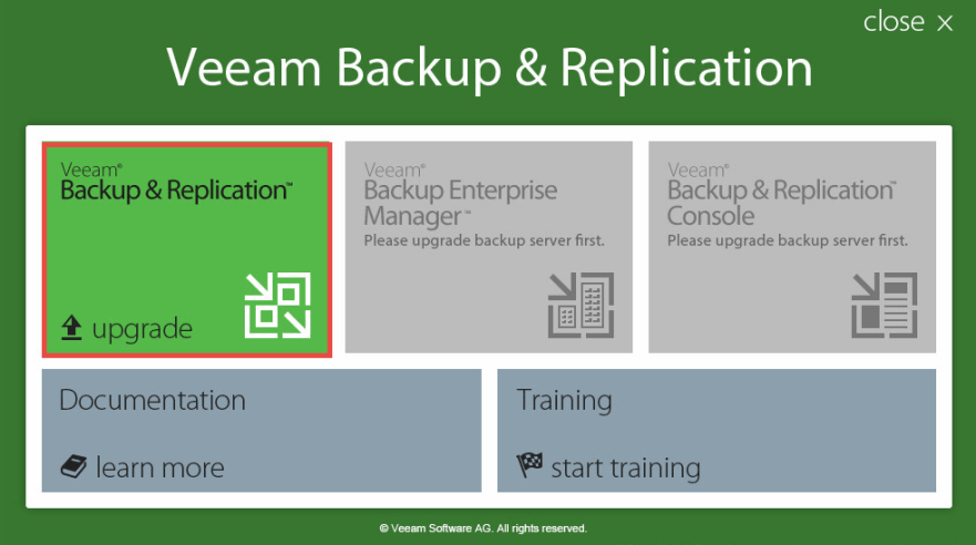 Veeam Backup 2 - Installer