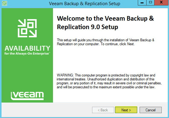 Veeam Backup 3 - Welcome