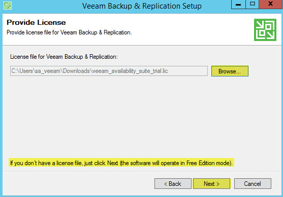 Veeam Backup 6 - Provide License