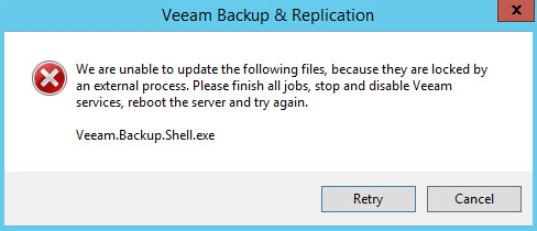 Veeam Backup - Service Error
