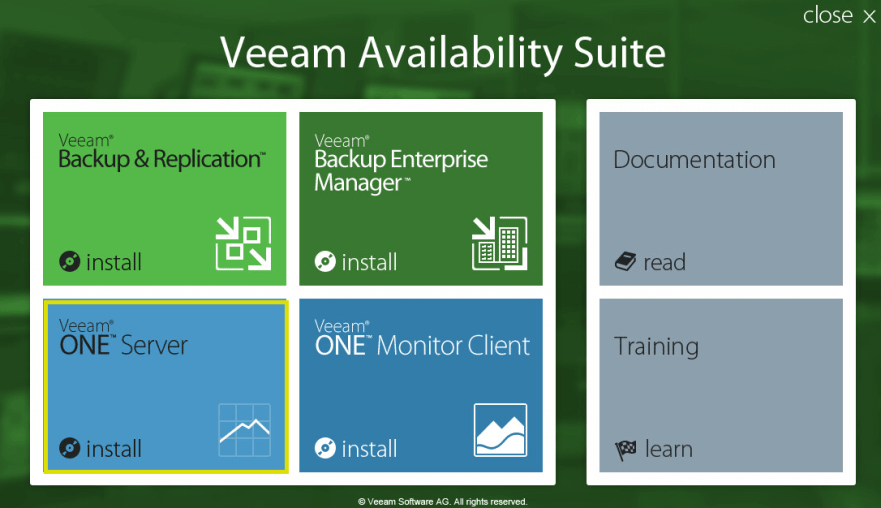 Veeam ONE 1 - Launcher