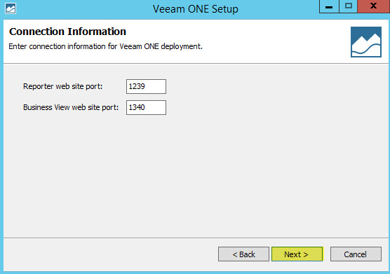 Veeam ONE 10 - Connection Information